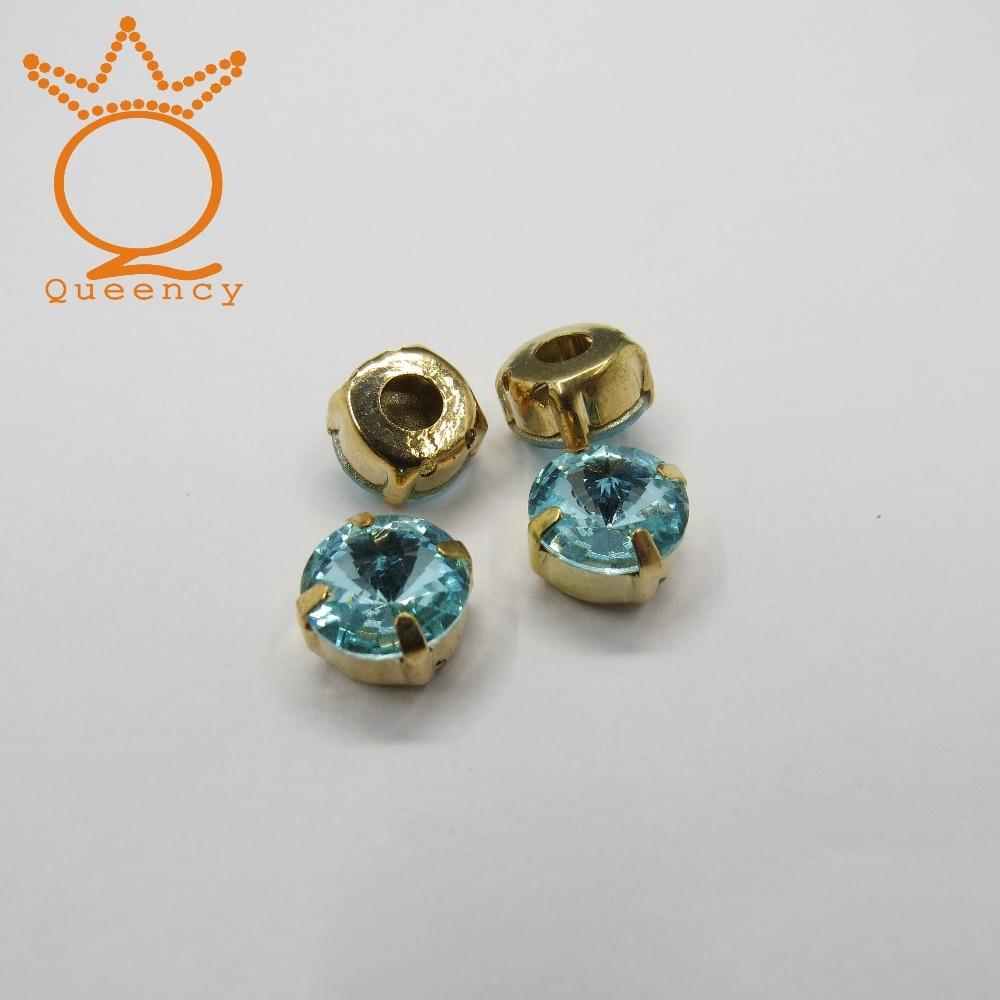 High quality Aquamarine pointback crystal rhinestone with claw for garment or accessory market<br>