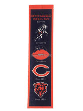 New Arrival Chicago Bears Baseball Team San Francisco Giants Rectangle Heritage Flags Banners With String Felt Pennats 20*81cm(China)