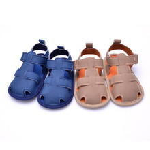 2017 New Cotton Fabric Summer Boys Sandals Toddler Summer Casual Girls Boys Soft Baby Toe Cap Covering Beach Sandals Shoes