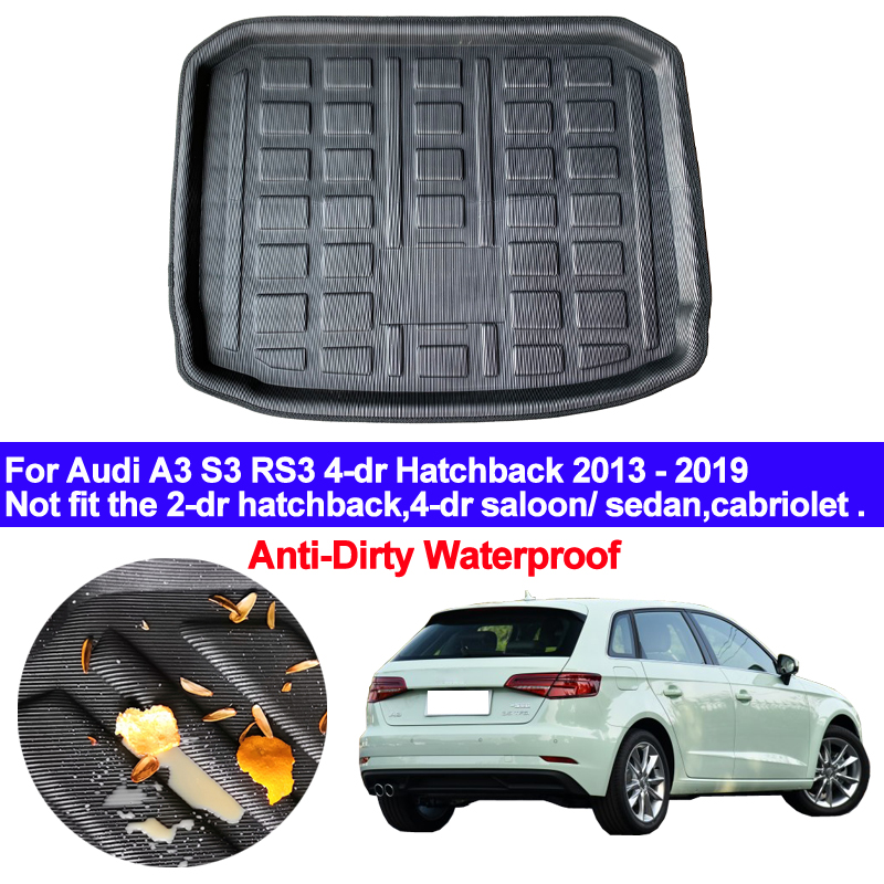 For AUDI Q5 SQ5 8R 2008-2017 Rear Trunk Mat Cargo Tray Boot Liner Floor Pad
