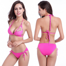 Original SWIMMART Design 2017 Hot sale Strappy Bandage Stretch Mesh Sexy Women Transparent Bikini