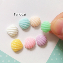 Tanduzi Cute 100PCS Mini Resin Shell Flatback Cabochon Home decor Earring Pendents Nail Decoration Resin Crafts(China)