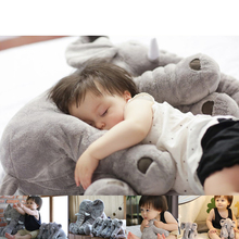 AUTOPS New Large Plush Elephant Toy Kids Sleeping Back Cushion Elephant Doll Baby Doll Birthday Gift Holiday Gift