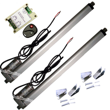 "Set of Wireless Control System-2PCS 450mm/18"" Stroke 12V DC 330lbs Linear Actuators &Wireless Controller &Brackets for TV Lifts(China)"