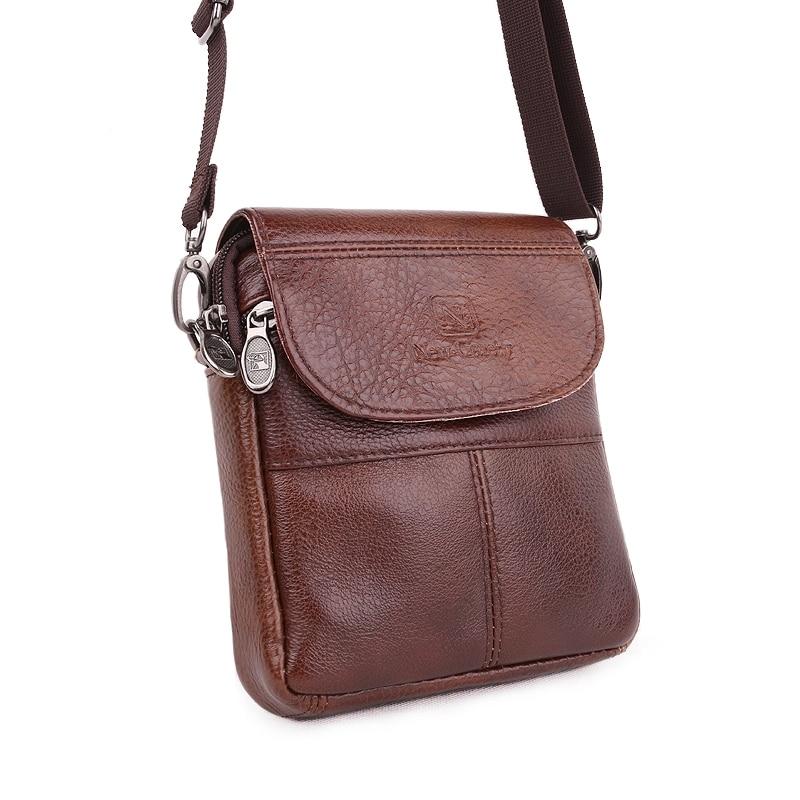 2016 New fashion genuine leather brand men bag Casual small Messenger bag black vintage High quality mini shoulder bags<br><br>Aliexpress