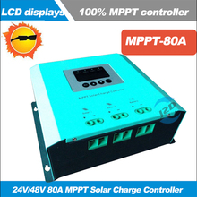 MPPT 24V48V 80A Solar Power Charge Controller 2 Circuits Solar Power Input for Solar Power System LCD Display Solar Regulator(China)