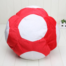 Toad Plush Hat 1pcs 12'' Super Mario Bros Red Mario Cap Plush Warm Anime Cosplay Plush Cap Hat