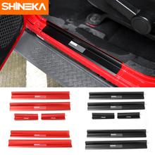 SHINEKA Flag Door Sill Plate Scuff Entry Guard Protector Welcome Padel for 2 & 4 Doors Jeep Wrangler JK 2007+(China)