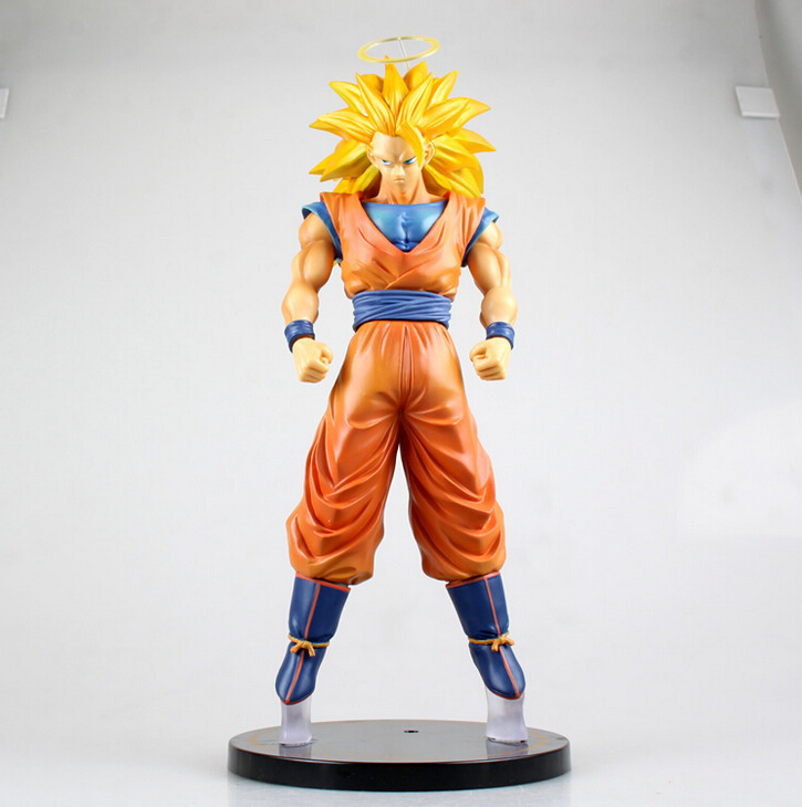 Dragon Ball Z Action Figures Son Goku 300mm Super Saiyan 3 Dragonball Action Figure PVC Toys DBZ Goku Figure Esfera Del Dragon<br><br>Aliexpress