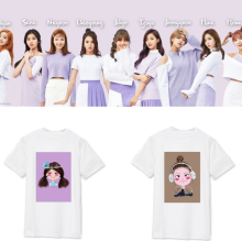 kpop Twice MOMO DAHYUN SANA Same Cartoon Short Sleeve Tshirt