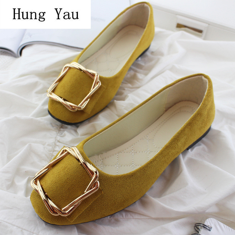 Shoes Woman Loafers Big-Size Fashion Autumn Sweet Shallow Casual Candy-Color 35-42