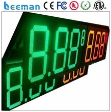 leeman USA market hot sales 48'' 60'' 72'' giant gas price sign for gas station usage,led gas price