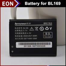 20pcs 2000mAh BL169 cell mobile phone FOR Lenovo S560 A789 P70 P800 battery free singapore air with retail package