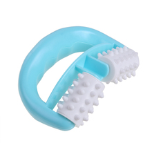 Handheld D Shape Full Body Massage Roller Anti Cellulite Body Neck Leg Arm Back Muscle Relax Roll Massager(China)