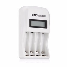 EBL Individual Smart Battery Charger for AA AAA Rechargeable Batteries Ni-MH Ni-CD Replacement Battery(China)