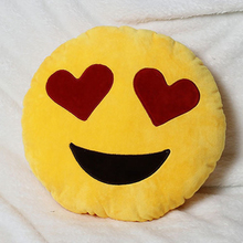 Bed Home Office Car Emoji Smiley Smile Emoticon Yellow Round Cushion Pillow Stuffed Plush Doll Soft Toy(China)
