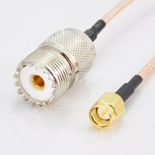 "SMA Male To UHF SO239 (PL259) Female RG316 8"" 20CM RF Pigtail Jumper Cable(China)"