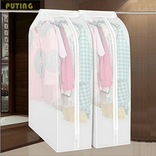 Cloth Dustproof Cover Clothes Hanging Coat Dust Cover Garment Suit Coat Organizador Coat Storage Bag Protector YYY9120(China)
