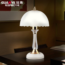 TUDA 25X44cm Free Shipping Luxury K9 Crystal Table Lamp High Grade Frosted Glass Lampshade Table Lamp Home Decor Table Lamp E27(China)