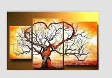 100% Hand painted Canvas Tree paintings Tree Artwork landscape Oil Painting Modern Abstract Home Decoration Wall Art Picture 82