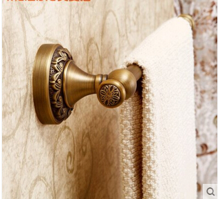 High Quality New Arrivals Antique Brass Vintage Style Bathroom Towel Bar Bathroom Towel Rack Towel Hanger<br><br>Aliexpress