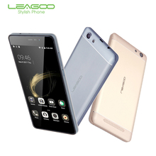 LEAGOO Shark 5000 3G Mobile Phones MT6580A Quad Core 8G ROM 1G RAM 5.5 Inch HD OTG Android 6.0 Smartphone 5000mAh Cellphone