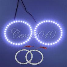 2X 100mm 33 SMD LED White Angel Eyes Halo Ring Headlight For BMW Car aytime running lights DRL(China)