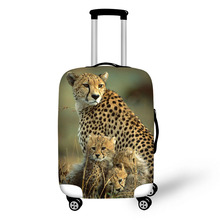 Animal World Leopard Print Protective Baggage Cover For 18-30 Inch Trolley Suitcase Elastic Waterproof Travel Luggage Cover(China)