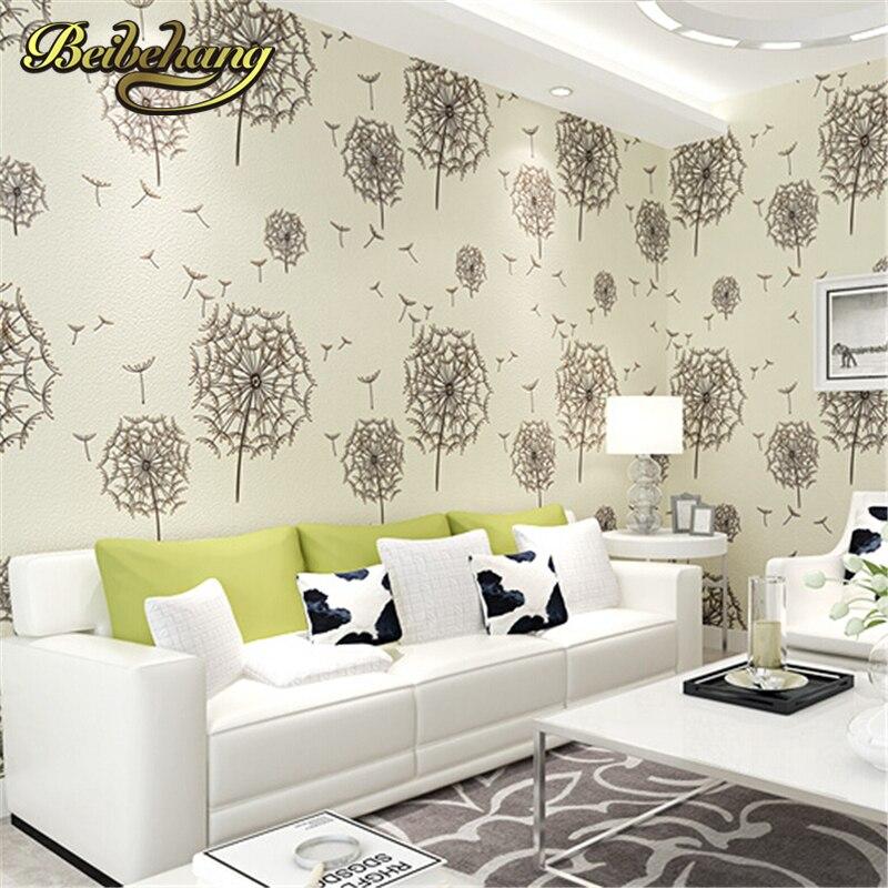 beibehang wallpaper High end non-woven modern American rustic 3d flower wallpaper roll/tapete papel de parede for living room<br>