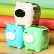 2017 Hot Sale Apontador Cute Kawaii Animal Pig Sweet Candy Colored Pencil For Sharpener Korean Kids School Supplies Stationery(China)