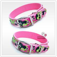 Dogs Collar Leash Camouflage Pink Collar for Small & Large Dogs Pets Rubber Nylon Leather Dogs Leash Lead Collar Pet Product