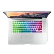 ESP Spanish for Apple Macbook Keyboard Cover 13 15 17 Rainbow Keyboard for MacBook Air Pro Retina EU UK Laptop Keyboard Film