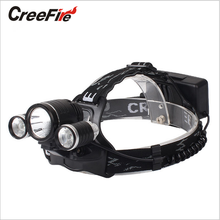 New Arrival High Quality Headlamp Headlight 6000LM CreeFire XML-T6+2 R2 LED Head lamp 4 Mode Bicycle Light for Riding Camping