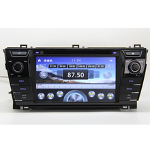For Toyota corolla 2013 2014 Car DVD GPS Player with GPS Navigation TV Bluetooth Radio 3G USB Russian menu language,MAP gift
