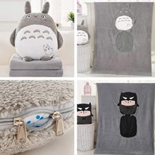 CXZYKING Cute Japanese Anime My Neighbor Totoro Doll +Blanket Cartoon Blanket Puzzle Toys Cute Totoro Plush Toys For Children