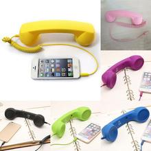 NEW 3.5mm Retro Telephone Handset Radiation-proof adjustable tone Cell Phone Receiver Microphone Earphone Tablet PC