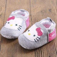 TongYouYuan Brand New Baby Kids Cute Sweet Soft Bottom First Walker Anti-skip Prewalkers Shoes Hello Kitty Footwear(China)