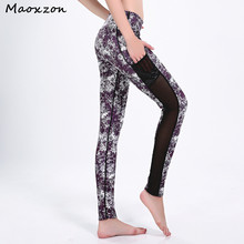 Buy Maoxzon Womens Mottled Print Fitness Slim Leggings Pants Mesh Pocket Casual Active Workout Ioga Skinny Trousers Female for $16.58 in AliExpress store