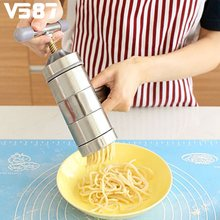 Pastry Noddle Making Cooking Tools Kitchenware Stainless Steel Pasta Noodle Maker Machine Cutter For Fresh Spaghetti Kitchen