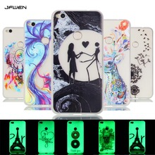 For Funda Huawei P8 lite 2017 Case 5.2 Transparent Luminous Silicone Soft TPU Back Cover For Huawei P8 lite 2017 Phone Case Capa