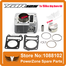 2015 High Performance  YBR125 to 150CC 57.4MM Big Bore Kit  Full Set  Motorcycle Necessary modification Free Shipping!