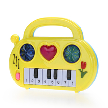 Kids Piano Music Toy Musical Developmental Cute Mini Piano Children Sound Educational Toy Pink ,Blue ,Yellow (Send By Random)