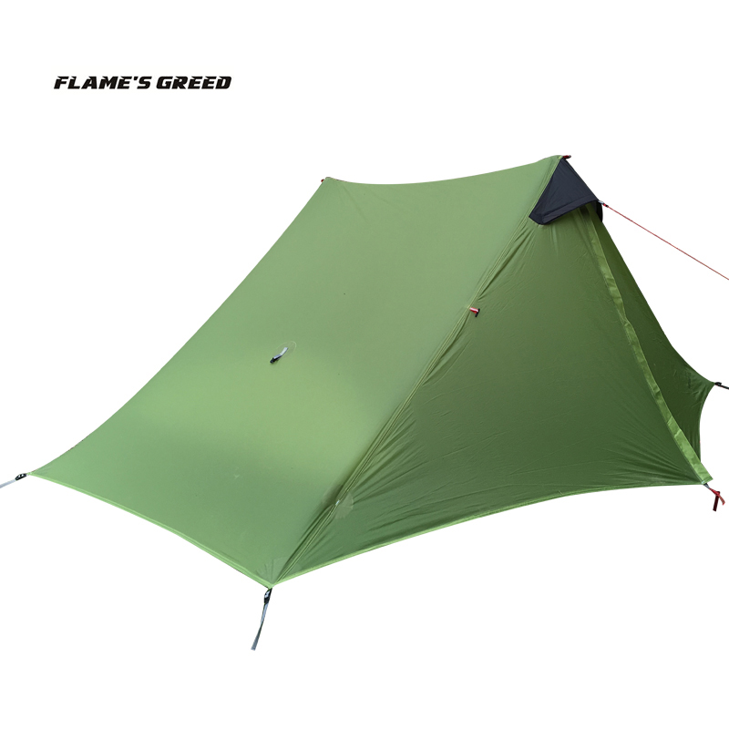 2018 LanShan 2 FLAME\\\'S CREED 2 Person Oudoor Ultralight Camping Tent 3 Season Professional 15D Silnylon Rodless Tent21