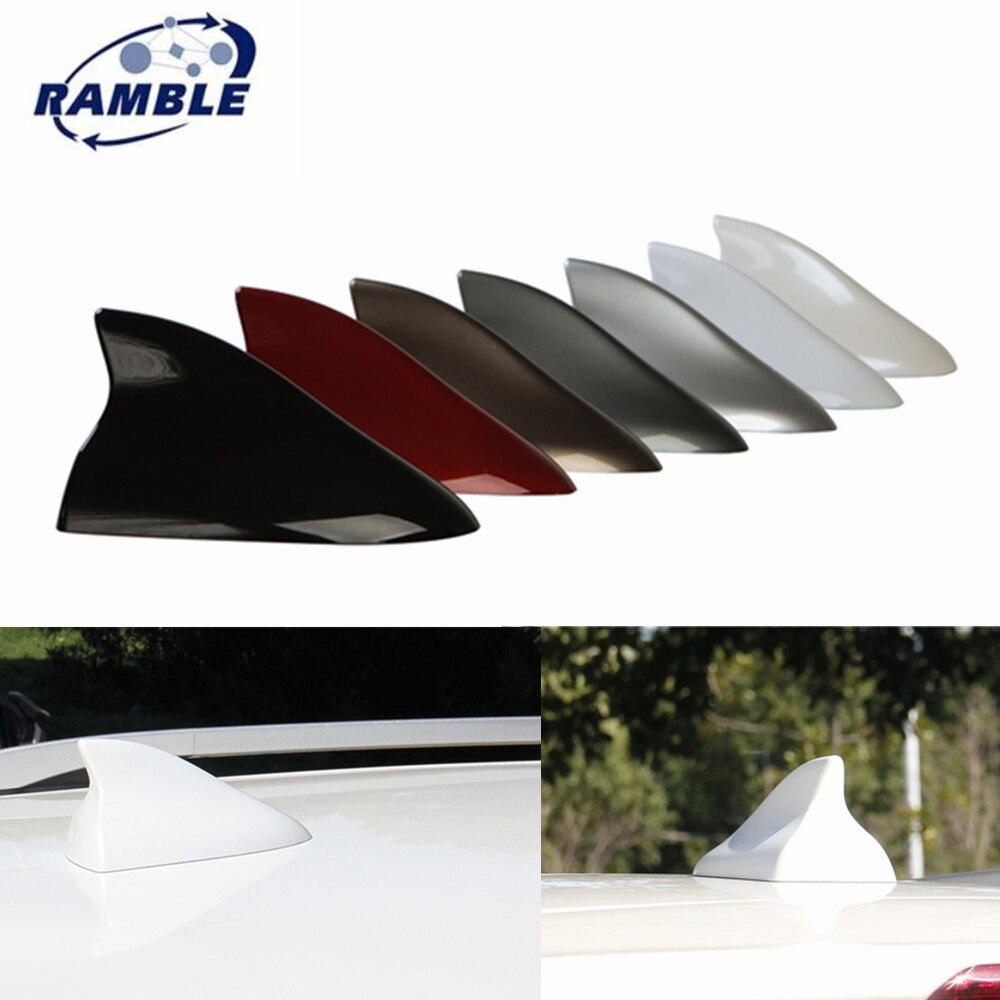 Big Shark Fin Auto Antenna FM Signal Amplifier Car Roof Decorative Sticker White