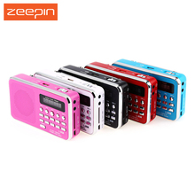 Hot Selling L-938 Mini Portable FM Radio Rechargeable Digital LED MP3 Speaker Player Support TF Card Playing AUX Input