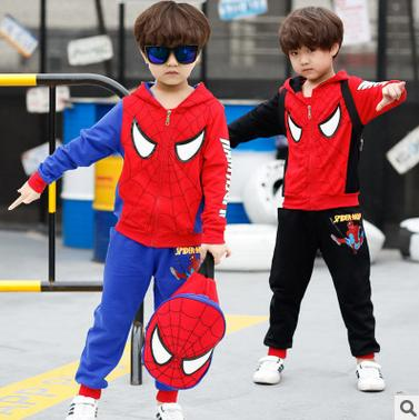 2017 Baby Hoodies Spider Man Children Clothing Sets Boys Spiderman Cosplay Sport Suit Kids Sets Jacket + Pants 2pcs Boys Clothes<br><br>Aliexpress