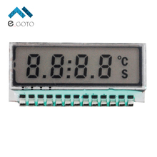 GDC0209 Accessories 4 Bit LCD Display Module Digital 6 O'Clock 7 Segment 4 Digit TN Small Size Metal Pin 2.5V LED Backlight Pan(China)