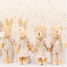 "12cm 5"" Kawaii Teddy Bear Plush Toy Mini Plush Doll Stuffed Animals Rabbit Small Pendant for Christmas gifts Wholesale A35(China)"