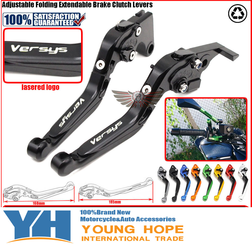 For Kawasaki VERSYS 650 cc 650cc 2006-2008 Motorcycle Accessories Adjustable Folding Extendable Brake Clutch Levers<br>