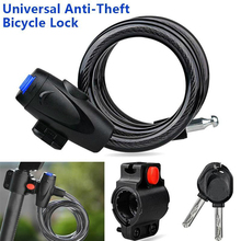 Universal Anti-Theft Bike Bicycle Lock Stainless Steel Cable Coil with 2 Key For Castle Motorcycle Cycle MTB Bike Security Lock